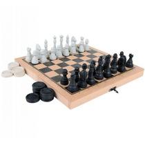 Jogo Xadrez E Damas Colegial - Carlu 1176
