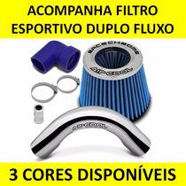 Kit Intake Air Cool Filtro Esportivo Vw Gol Voyage G5 Fox