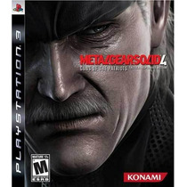 Metal Gear Solid 4: Guns Of The Patriots Jogo Ps3 Sdgames!!!