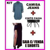 Kit Giovanna Antonelli Atena Regra Do Jogo Camisa+saia+cinto