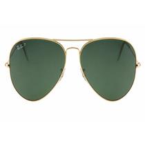 Oculos De Sol Aviador Rb 3025 Lente Verde Rayban Original