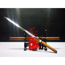 Espada Ninja Katana Shirasaya Original Afiada Aço 1095