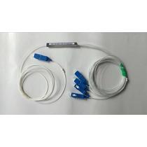 Splitter Fibra Óptica Sm Plc 1:4 Conectorizado Sc/upc