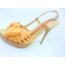 Sandália Feminina Sapato De Salto Alto Meia Pata 35
