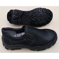 Sapato Bracol Preto Bidensidade Elástico Com Bico De Aço