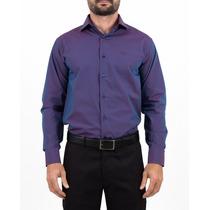 Camisa Slim De Algodão Maquinetado Jcanedo Com Leve Brilho