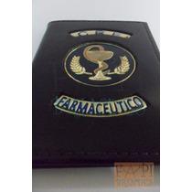 Carteira Brasão Logotipo Farmácia Poder Cobra Taça Cura P47p