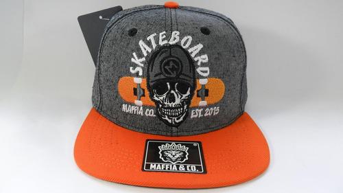 e0df4f8eb4a6f Boné Cap Original Skateboard Aba Reta Snapback Maffia Co A13