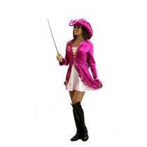 Fantasia Feminina Pirata Rosa 1