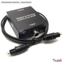 Conversor Adaptador Otico Toslink E Coaxial Digital Para Rca