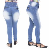 Calça Jeans Feminina Legging Hevox Manchada Levanta Bumbum