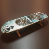 Comedouro Duplo Skateat® William Piuí Cuscoloko Shape E Inox