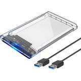 Case Para Hd Externo Transparente Notebook Sata 2.5 Usb 3.0 Gaveta Hd Usb Original Transmissão 6gbps