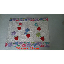 Tapete Em Patchwork, Artesanato 70 X 52 Cm
