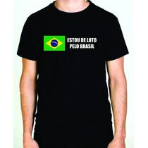 Camiseta Brasil De Luto Protesto Sergio Moro Lava Jato