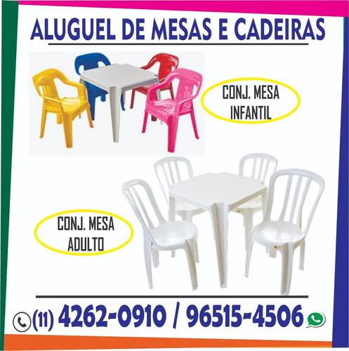 Aluguel De Mesas E Cadeiras Toalhas Freezer Utensílios Festa