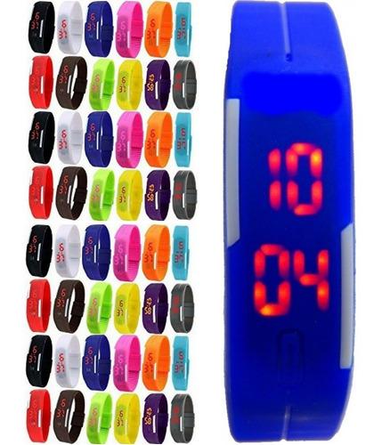 edd38a48c64 Kit 5 Relógio Led Digital Sport Bracelete Pulseira Silicone