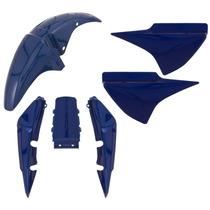 Kit Plástico Carenagem Honda Cg Titan 150 2007 Cor Azul