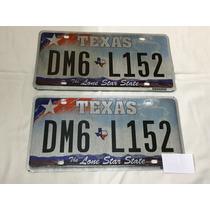 Par Placa Americana Carro Texas Dm6l152 Karmann Ghia Tc 1974