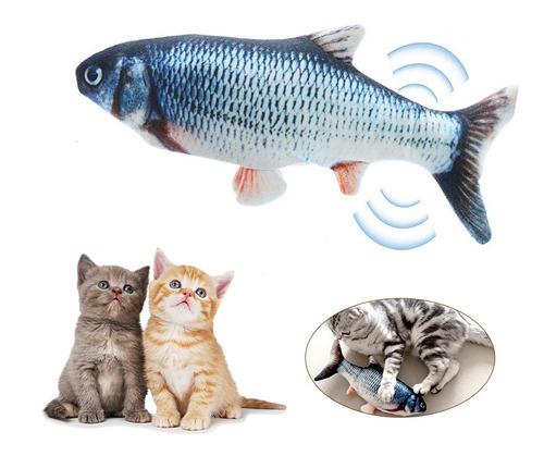 Simulação De Carregamento Usb Peixe Brinquedo Gato Engraçado