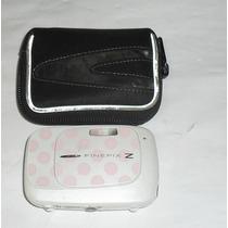Camera Digital Fujifilm Finepix Z 30 Rosa Com Branco Usada.