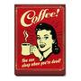 Quadro Decorativo Coffe Café Poster Placa Mdf 15mm Qd18 Original
