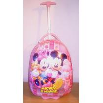 Mochila Rigida Com Rodinhas Disney Mickey & Minnie