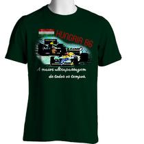 Camiseta Fórmula Retrô - Hungria 1986 - Piquet X Senna
