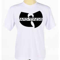 Camiseta Camisa Branca Personalizada Banda Wu-tang Clan Rap