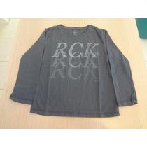 Camiseta Ellus Kids Cotton Fine Rck - Cinza.