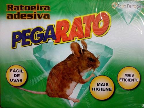 Kit 20 Ratoeira Adesivo Pega Rato - Frete Grátis