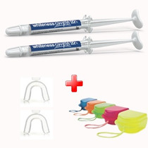 Kit Clareamento Dental Whiteness C/2 Seringa + Moldeira