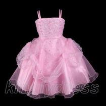 Vestido Infantil Festa. Princesa. Daminha. Rosa. Lindo!