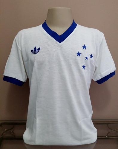 Camisa Retrô Cruzeiro 1985 Branca Gola V - Pronta Entrega ! 3c12bb6bf9d5e
