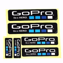 Cartela De Adesivos Gopro Kit Com 6 Unidades