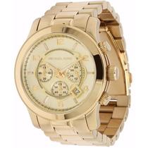Relógio Michael Kors Mk8077 Dourado Original Completo Cx Man