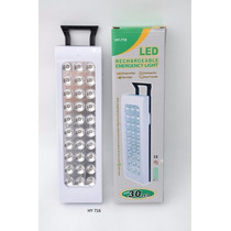 Lampada Emergência Com 30 Led S Recarregáveis É Bi-volt