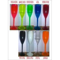 50 Taças Champagne Vinho Acrílico Ps Cristal R$ 2,50 Unid.