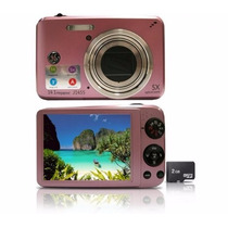Câmera Digital J1455 Rosa 14.1mp Lcd 3 Ge Zoom Óptico 5x Top