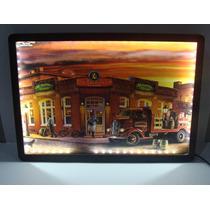 Quadro Luminoso Led Placa Mdf Adesivada 28x40cm - Budweiser