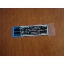 Adesivo Fabricante (chassi) Cg Cb 400 /450 Xl 125 / 250 Ml