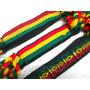 Atacado 12 Pulseiras Tornozeleiras Reggae Jamaica Grossa 2cm