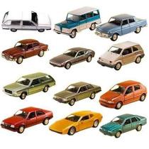 Coleção 12 Miniatura Carro Classicos Nacionais Extra-11 Cm