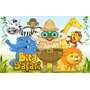 Bita Safari Vetores E Imagens Animais Elefante Girafa Leão