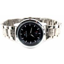 Relógio Masculino Original Preto + Caixa Ideal P/ Presente