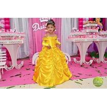 Vestido Fantasia A Bela E A Fera Do 1 Ao 12 Ou Sob Medida