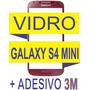 Tela Vidro Galaxy S4 Mini Vermelho I9190/92/95 + Adesivo 3m
