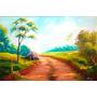 Quadro Paisagem Pintura Óleo Sobre Tela 60x90cm