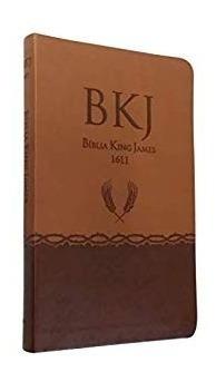 Biblia Slim King James Fiel 1611 Ultra Fina Capa Pu Marrom