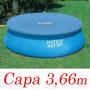 Capa Proteção Intex Piscina 366 Cm Borda Inflável Cobertura